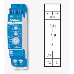 Реле для карт доступа или датчиков дыма с таймером FZK14, до 16А/220В
